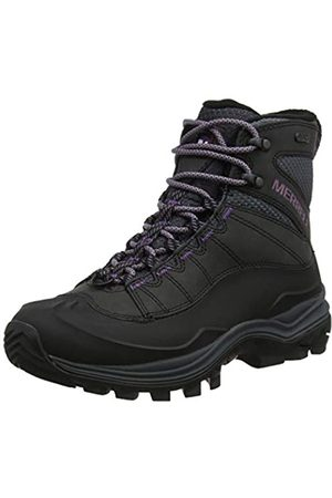 Merrell Thermo Chill Mid Shell Waterproof, Botas de Nieve para Mujer, (Black)