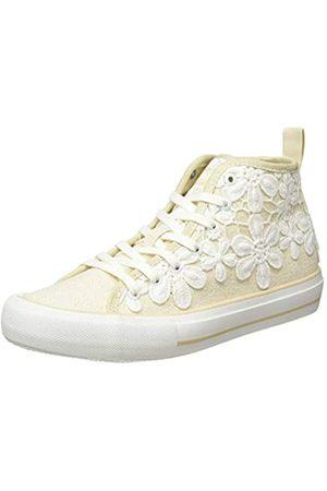 Desigual Shoes Beta Crochet, Zapatillas Altas para Mujer, (Ecru 9020)