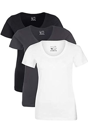 Berydale Für Sport & Freizeit, Rundhalsausschnitt Camiseta, Schwarz/Weiß/Forged Iron), X-Small