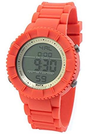 Watx Reloj Digital para Hombres de Cuarzo con Correa en Caucho RWA1710-C1772