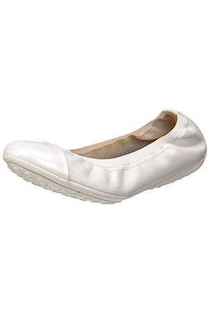 Geox Jr Piuma Ballerine a, Bailarinas para Niñas, (White C1000)
