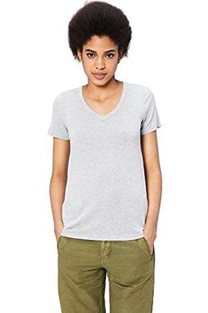 Daily Ritual Marca Amazon – – Camiseta de manga corta con cuello en V para mujer