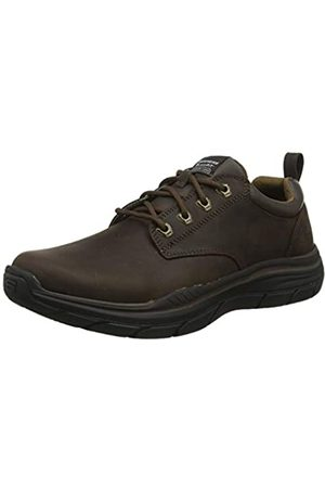 Skechers Men's Expected 2.0 Oxfords, Brown (Brown Leather BRN)