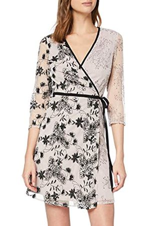 Little Mistress Tabitha Vintage Lace and Sequin Mini Wrap Dress Vestido Fiesta Mujer