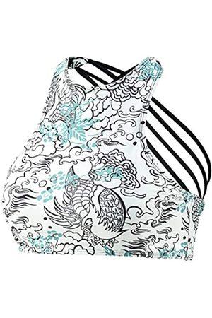 Beco Top de Cuello Alto Deportivo para Mujer, con Tirantes Cruzados para Espaguetis, Almohadillas extraíbles, Bikini de Copa B, Mujer, 36170