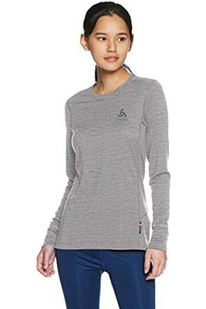 Odlo SUW Top Crew Neck l/s Natural 100% Merino Suéter pulóver, Mujer, Melange- Melange