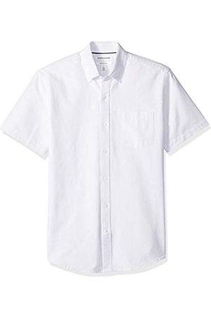 Amazon Camisa Oxford de manga corta de corte recto para hombre