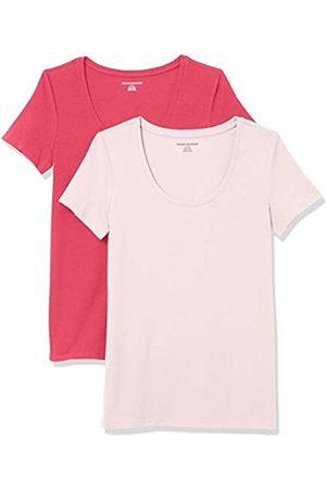 Amazon Paquete de 2 Camisetas de Manga Corta con Cuello Redondo. Fashion-t-Shirts US S (EU S - M)
