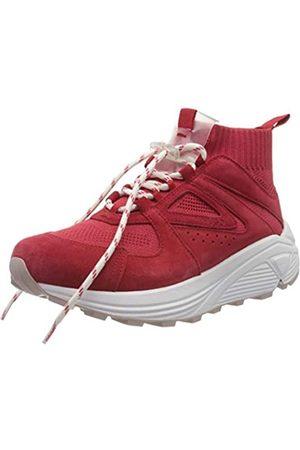 HUGO BOSS Horizon_Runn_Knit_MX, Zapatillas Altas para Mujer, (Bright Red 621)