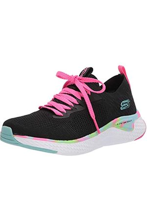 Skechers Solar Fuse, Zapatillas Chica, (Black Knit Mesh/Multi Trim BKMT)