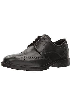 Ecco Lisbon, Zapatos de Cordones Brogue para Hombre, (Black 1001)