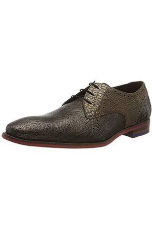 Floris van Bommel 18106/06, Zapatos de Cordones Derby para Hombre, (Brown Print Metalic 06)