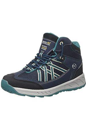 Regatta Samaris Mid' Walking Boots, Botas de Senderismo Unisex Niños, (Navy/Deep Lake Qy1)