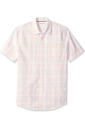 Amazon Camisa de popelín de manga corta de corte entallado para hombre