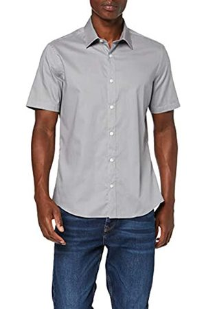 FIND Camisa casual - para hombre Grey (Lt Grey) 46 (Manufacturer Size:2XL)