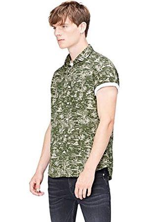 FIND Camisa de Manga Corta con Estampado Tropical Hombre