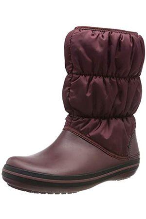 Crocs Winter Puff Boot Women, Botas de Nieve para Mujer, (Burgundy/Black)