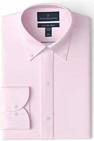Buttoned Down Slim Fit Button Collar Solid Non-Iron Dress Shirt Camisa
