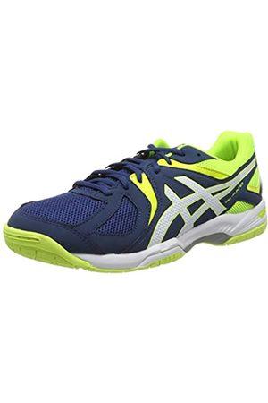 Asics Gel-Hunter 3, Zapatos de Bádminton para Hombre, (Poseidon/White/Safety Yellow)