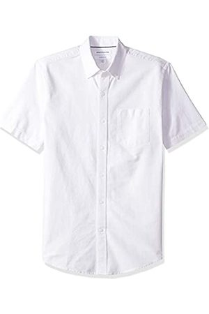 Amazon – Camisa Oxford de manga corta con bolsillo de corte entallado para hombre