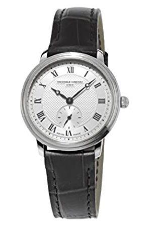 Frederique Constant Reloj analógico para Mujer de Cuero Plata
