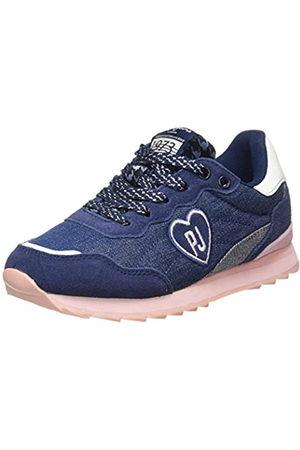 Pepe Jeans London Belle Denim, Zapatillas para Niñas, (Navy 595)