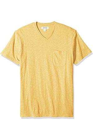 Goodthreads Marca Amazon – – Camiseta ligera con cuello en V de algodón flameado para hombre