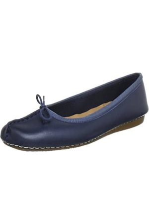 Clarks Freckle Ice, Bailarinas para Mujer, (Navy Leather)