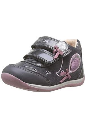 Geox B Each Girl A, Zapatillas para Bebés, (Dk Grey/Pink C0952)
