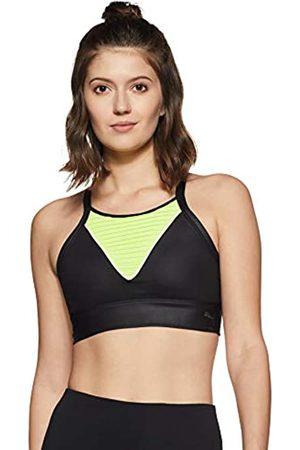 Puma Shapeshifter Bra M Sujetador Deportivo, Mujer, Black/Yellow Alert