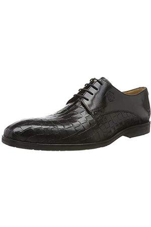 Melvin & Hamilton Greg 4, Zapatos de Cordones Derby para Hombre, Schwarz Crock Venice-Black-Lining-Rich Tan-Insole Leather-m&h Rubber eva-Navy