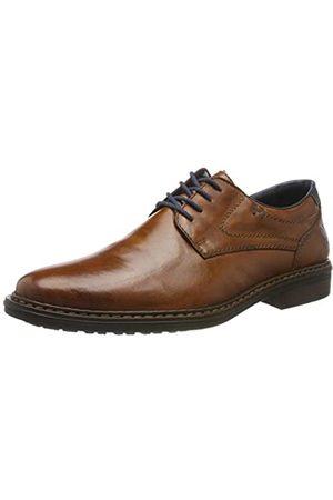 Rieker Herbst/Winter, Zapatos de Cordones Derby para Hombre, (Peanut/Pazifik 24)