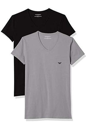 Emporio Armani CC717-111512, Camiseta para Hombre, Pack de 2
