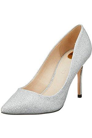 Buffalo Fanny, Zapatos de Tacón para Mujer, (Silver Mesh Metallic 001)