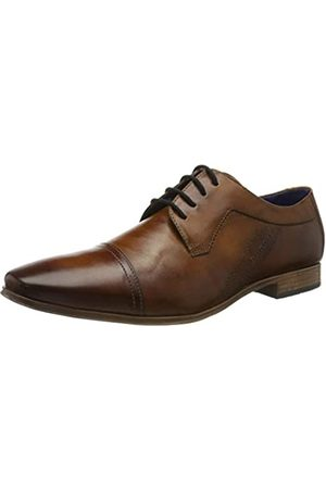 Bugatti 312420152100, Zapatos de Cordones Derby para Hombre, (Cognac 6300)