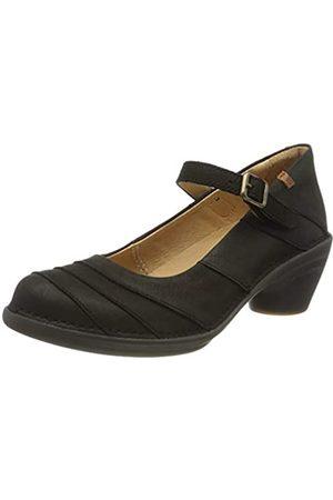 El Naturalista N5327, Zapatos de tacón con Punta Cerrada para Mujer, (Black/Black 000)