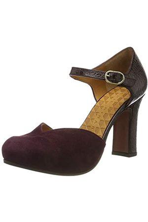 Chie Mihara Dacil, Zapatos con Tacon y Correa de Tobillo para Mujer, Nilo Grape