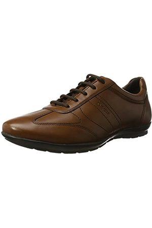 Geox Uomo Symbol B, Zapatos de Cordones Oxford para Hombre, (Cognac)