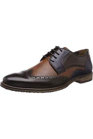 Fretz Men Grenoble, Zapatos de Cordones Derby para Hombre, (Mokka7cognac 69)