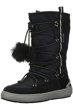 Geox J Sleigh Girl B ABX B, Botas de Nieve para Niñas, (Black C9999)