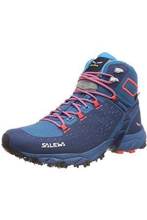 Salewa WS Alpenrose Ultra Mid GTX, Zapatos de High Rise Senderismo para Mujer, (Blue Sapphire/Fluor Coral 8363)
