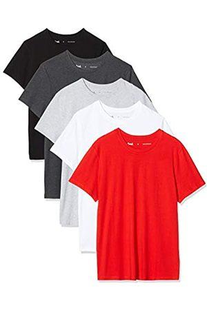 FIND Marca Amazon - Camiseta Hombre, Pack de 5