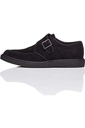 FIND Single Buckle Monk Mocasines, Black