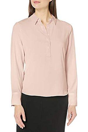 Lark & Ro Long Sleeve Popover Collared Blouse dress-shirts