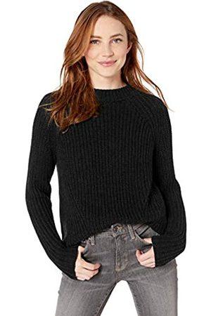 Goodthreads Cotton Half-Cardigan Stitch Mock Neck Sweater Sweaters