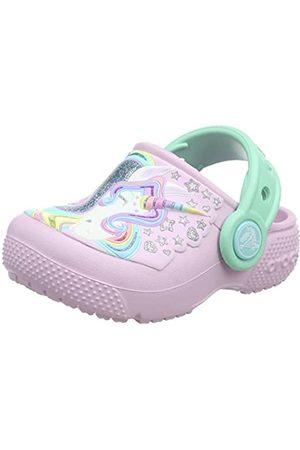Crocs Fun Lab Clog K, Zuecos Unisex Niños, (Ballerina Pink/New Mint)