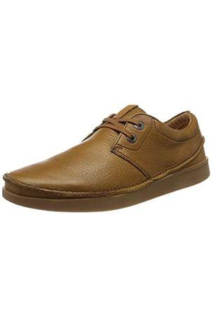 Clarks Oakland Lace, Zapatos de Cordones Derby para Hombre, Dark Tan Lea