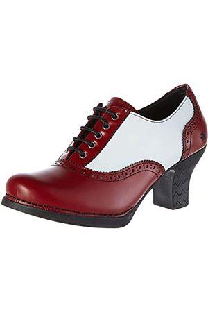 Art 1068 CITY-LEADER HARLEM Zapatos de tacón con punta cerrada Mujer, (Burdeos/White Burdeos/White)