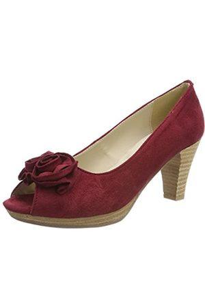 Andrea Conti 0733109, Zapatos de tacón con Punta Abierta para Mujer, (Bordo 024)