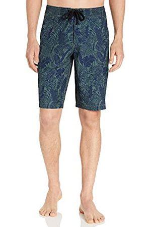 Goodthreads 11 Inch Inseam Swim Boardshort Fashion-Board-Shorts, Green Parrot Print